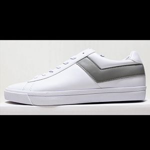 PONY Top Star Men's White Gray Leather Low Top
